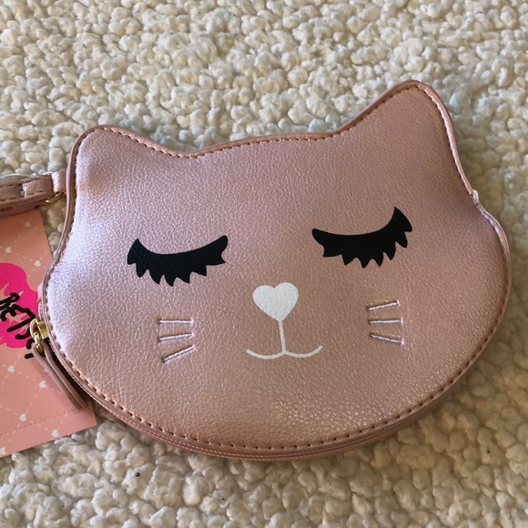 Betsey Johnson Handbags - 🌺NWT! BETSEY JOHNSON CAT COIN PURSE/WRISTLET